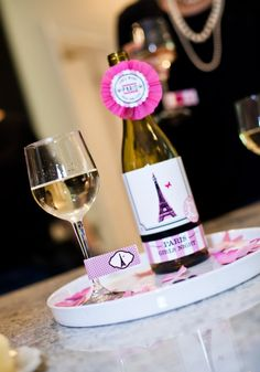 Paris Party. Use sparkling cider for kids party.