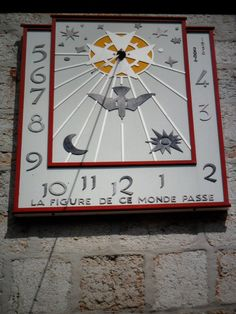 SUN DIAL CADRAN SOLAIRE~ Cadran Solaire sur La Facade de L'Eglise de La Brevine Educational Technology, Science And Technology, Time Clock, Sistema Solar, Sundial, Automata, My Heritage, Astronomy, Clocks