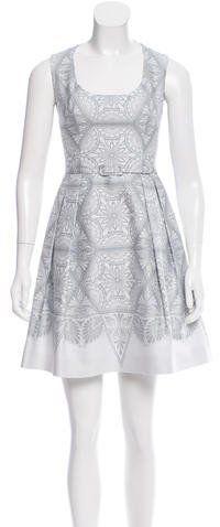 Jonathan Saunders Printed Sleeveless Dress