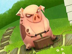 Pig Character #pig #character #animal