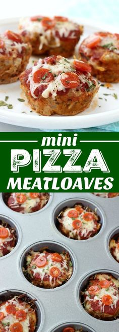 Mini Pizza Meatloaves are a fun twist on traditional meatloaf! They're made pizza style and come in at under 150 calories each thanks to ground turkey! Meatloaf Recipes, Meat Recipes, Pizza Recipes, Pizza Meatloaf Recipe, Mini Meatloaf Muffins, Recipies, Cookie Recipes, Dessert Recipes, Turkey Pizza