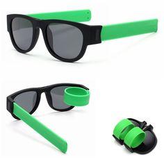 53076cf8633 Wrist Slapping Foldable Polarized Sunglasses Green