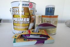 Painting tips for painting Ikea. Products that work.   Zinsser's 'Cover Stain' is that it clings to so many surfaces without sanding and dries in an hour.