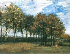 Vincent van Gogh, Autumn Landscape Painting, Oil on Canvas, Nuenen, The Netherlands: October , 1885, Fitzwilliam Museum, Cambridge, United Kingdom, Europe