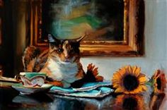 Discover Original Art for Sale Online at UGallery | Please Don't Eat the Sunflowers oil painting by Jonelle Summerfield