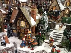 Streets and walls Christmas Village Display, Christmas Town, Christmas Villages, Noel Christmas, Christmas Traditions, Christmas Crafts, Christmas Ornaments, Village Miniature, Outdoor Christmas Decorations