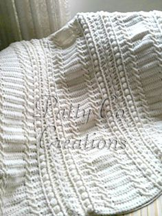 Ravelry: Cable blanket. English & Spanish pattern pattern by PattyCo Creations