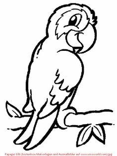 Papagei 036 Kostenlose Malvorlagen Und Ausmalbilder Auf Wicoworld Com 600x798 Animal Coloring PagesColoring