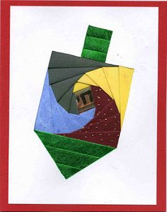 Iris Folding @ CircleOfCrafters.com: Make an Iris Folded Dreidel