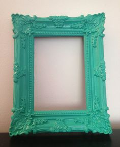 Baroque 5x7 picture frame pantone color of the year emerald green ornate shabby chic vintage wedding table number sign French country