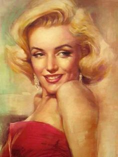 Marilyn Monroe (Art painting) All pictures are copyright protected by their respective owners. No words, beyond beautiful drawning, Marilyn Monroe Tattoo, Marilyn Monroe Artwork, Marylin Monroe, Make A Girl Laugh, La Reproduction, Norma Jeane, Old Hollywood, Hollywood Stars, Lady In Red