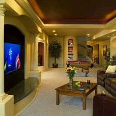 Platform with side pillars for entertainment center