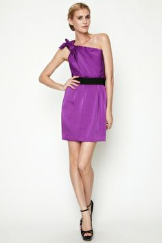 Proud owner of this cute purple BCBG dress.