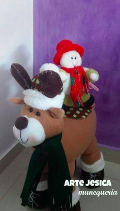 Reno, Snowman, Dinosaur Stuffed Animal, Toys, Disney Characters, Mary, Animals, Feltro, Christmas Wood