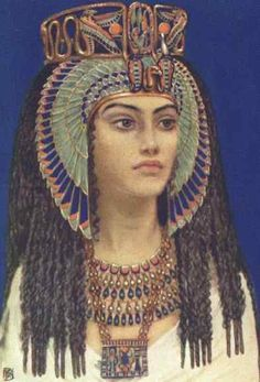 Queen Tiye - as painted by legendary artiste to the Pharaohs, Winifred Brunton. Bless Miss Brunton. Even though the picture is indeed lovely, she failed to capture the incredible spirit and Tiye's African beauty.