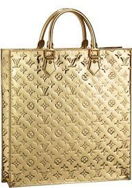 Louis Vuitton Monogram Miroir Sac Plat In Gold @}-,-;--