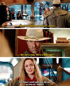 """""""You know I could take your life just as easy as I saved it"""" - Sara, Jonah, Mick and Amaya #LegendsOfTomorrow"""