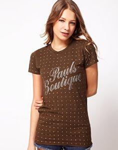 Imagen 1 de Camiseta con detalles de strass de Pauls Boutique de Asos