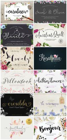 Personalización de blogs: 12 fuentes preciosas y poco vistas. Fuentes bonitas | Pretty fonts