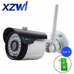 English version  Wifi Camera IPC 1.3MP IR 25M Outdooor  Security Bullet IP Camera Netcan built-in 16GB SD Card  iPhone Android