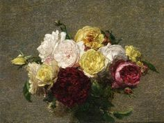 Bouquet of Roses - Henri Fantin-Latour