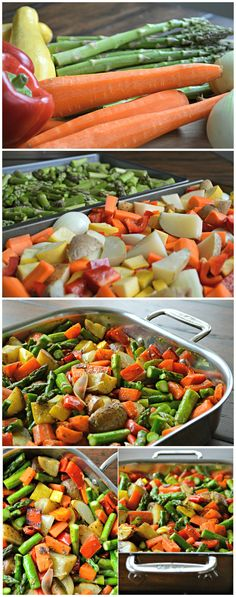 Roasted spring vegetables - colorful, flavorful and healthy