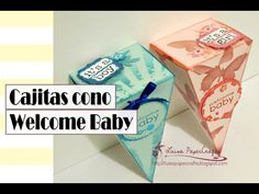 Luisa PaperCrafts: Cajitas tipo cono. Video Tutorial.