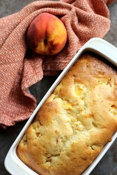Peaches and Cream Bread is a deliciously baked quick bread. It is incredibly moi… Peaches and Cream Bread is a deliciously baked quick bread. It is incredibly moist and the fresh peaches with the sweet cream icing make it summer perfect. Delicious Desserts, Dessert Recipes, Yummy Food, Pudding Recipes, Easy Bread Recipes, Cooking Recipes, Cooking Games, Peach Bread, Peach Quick Bread