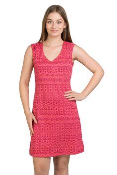 SUKIENKA MARMOT ANNABELL - HIBISCUS HEATHER SUN  różowa sukienka turystyczna