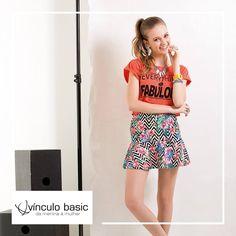 A linha teen da Vínculo Basic tem peças modernas e super descontraídas para as garotas arrasarem nos passeios com os amigos.  http://www.vinculobasic.com.br/ #vinculobasic #modafeminina