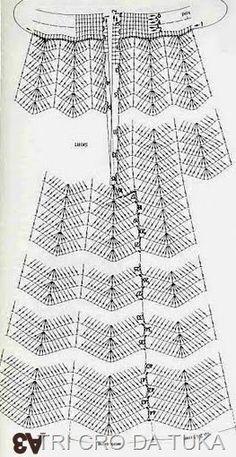 graphic crochet skirt