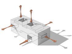 Anerkennung: Konzept Massenverteilung, © Hoskins Architects