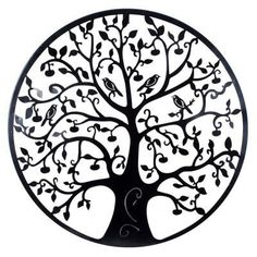 Black Tree of Life Metal Hanging Wall Art Round Hanging Sculpture Garden cm* Metal Tree Wall Art, Metal Wall Sculpture, Metal Wall Decor, Hanging Wall Art, Wall Sculptures, Wall Art Decor, Wall Hangings, Sculpture Garden, Sculpture Art