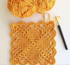 Transcendent Crochet a Solid Granny Square Ideas. Inconceivable Crochet a Solid Granny Square Ideas. Crochet Motifs, Granny Square Crochet Pattern, Crochet Blocks, Crochet Squares, Granny Squares, Crochet Patterns Filet, Crochet Flower Scarf, Crochet Flowers, Filet Crochet