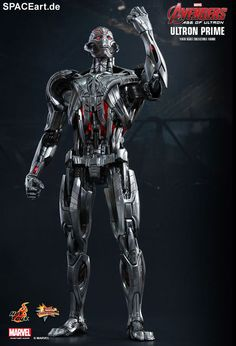"""cyberclays:""""Marvel Ultron Prime Sixth Scale Figure by Hot Toys""""There are no strings on me.""""In the first official look at Marvel's Avengers: Age of Ultron, the film's titular villain, Ultron, makes a menacing appearance and memorable speech that. Age Of Ultron, Spiderman, Batman, Black Widow, James Spader Avengers, Marvel Avengers, Godzilla, Ultron Movie, Dc Comics"""