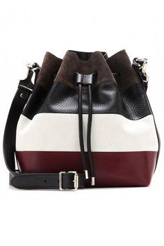 Proenza Schouler Medium Bag Striped Leather Shoulder Bag