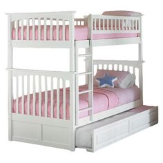 Atlantic Furniture Columbia Bunk Bed with Trundle & Reviews | Wayfair