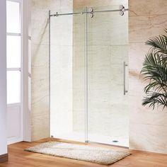 bypass shower door. Frameless Bypass Shower Door In Stainless Steel With