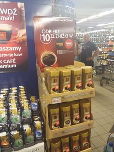 Posm display for instant coffee MK Cafe Gold