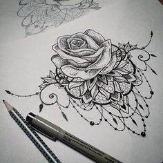 mandala rose tattoo - Google Zoeken