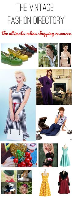 0d9fbea2be7 the vintage fashion directory the ultimate online shopping resource for  retro style clothes Vintage Clothing Online