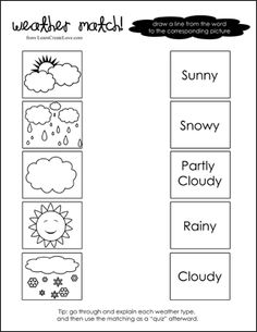 Weather Match Printable