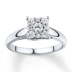 Diamond Engagement Ring 1/2 ct tw Round-cut 10K White Gold from Kay Jewelers on shop.CatalogSpree.com, your personal digital mall.