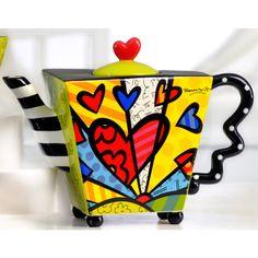 teapot by romero britto