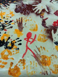 Taller de Arte Rupestre. Prehistoria. Paleolítico con los niños. CaminArt