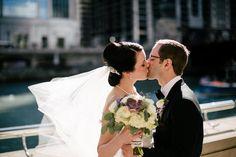Elegant, Purple & Gray Loft Wedding in Illinois   WeddingWire: The Blog