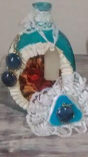 Diy Vintage , Shabby Chic , Retrô e Reciclagem: Garrafa Shabby Chic com verniz vitral!