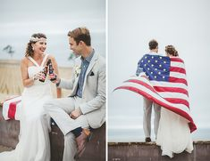 Red White and Blue Wedding Ideas - Patriotic Beach Wedding Shoot - Inspired By This