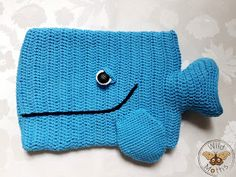 Wildmoths Handcrafted Creations: Hot Water Bottle Whale #2