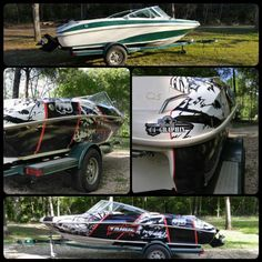 Ready for Summer? Check out this custom printed boat wrap in Arlon DPF by Graphix, New Waverly, TX. Boat Wraps, Converse Chuck Taylor, High Top Sneakers, Digital, Printed, Summer, Check, Travel, Shoes